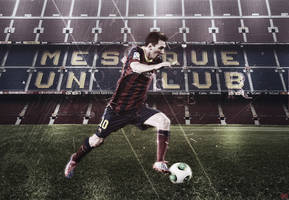 Lionel Messi Wallpaper by MWKGFX