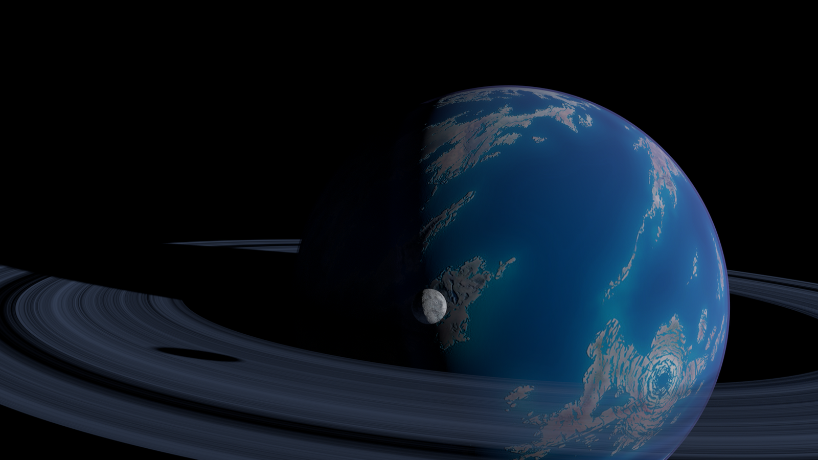 Ocean Planet With RIng Test 01 by 4wallforce