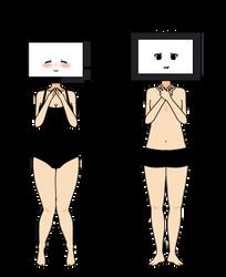 (Kisekae monster exports) TV heads (F2U!) by AestheticNyx