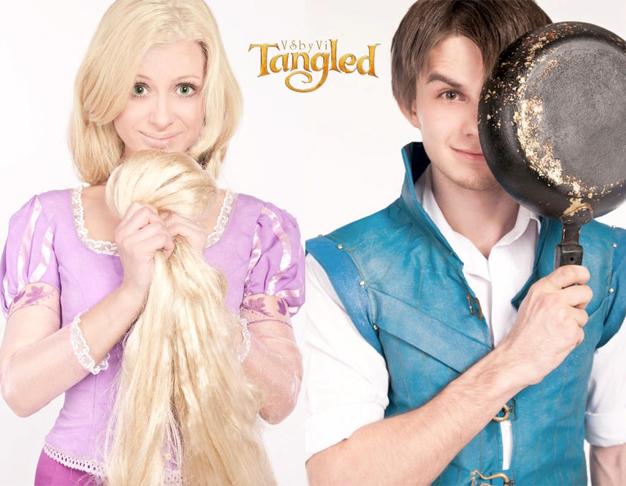 Disney's 'Tangled' - Cosplay. Rapunzel and Flynn by VSbyVi