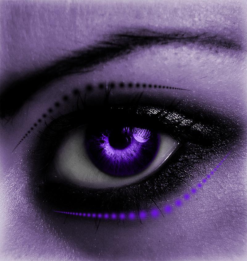 Purple Eye by Geodium