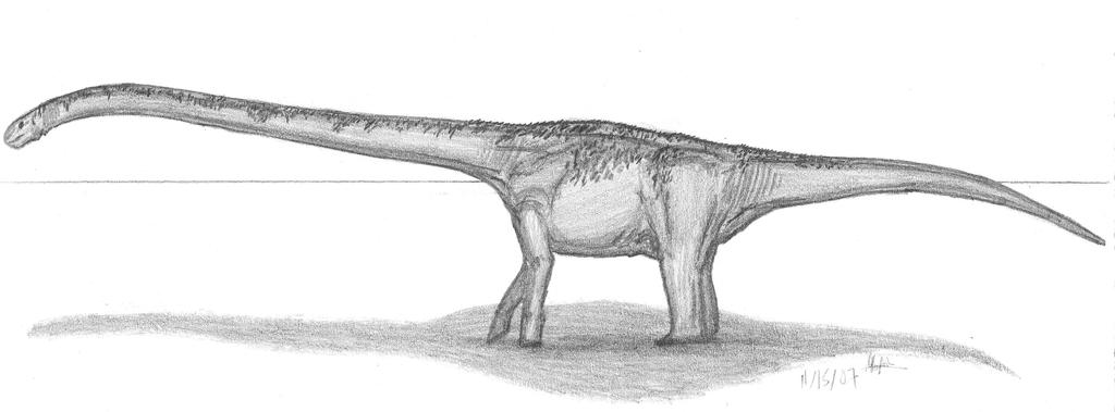 Omeisaurus tianfuensis by EmperorDinobot