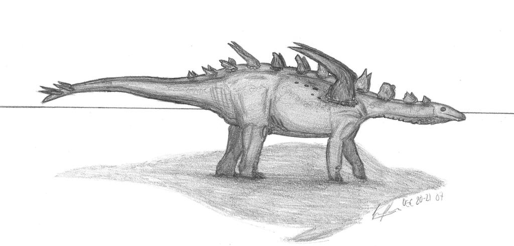 Gigantspinosaurus sichuanensis by EmperorDinobot