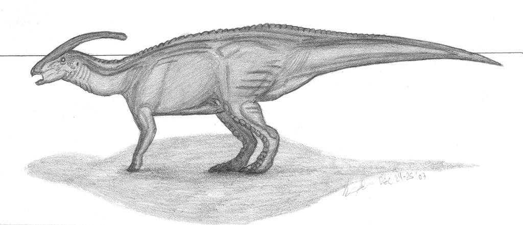 Parasaurolophus walkeri by EmperorDinobot