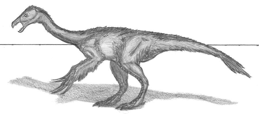 Beipiaosaurus inexpectus by EmperorDinobot