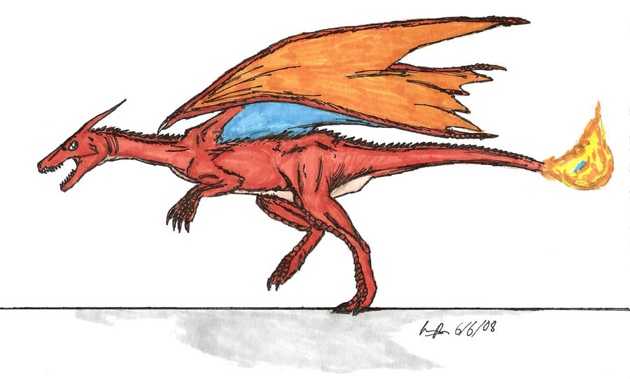 Charizard realistic color II by EmperorDinobot