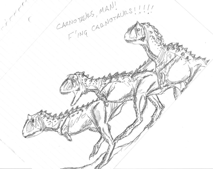 F'ing Carnotaurs... by EmperorDinobot