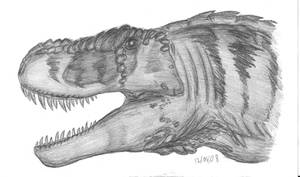 Tyrannosaurus rex bust by EmperorDinobot