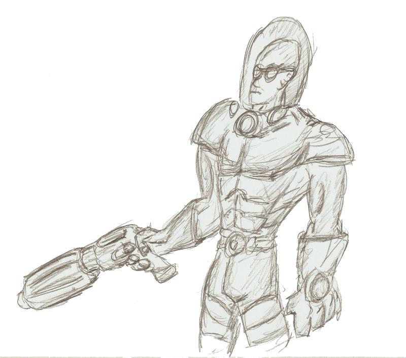 Mr. Freeze sketch by EmperorDinobot