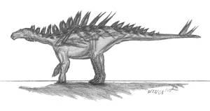 Huayangosaurus taibaii by EmperorDinobot