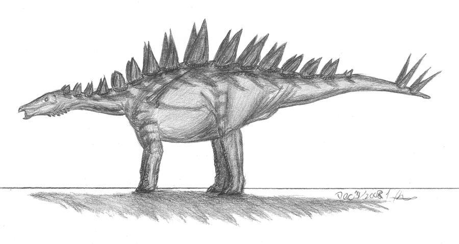 Tuojiangosaurus multispinus by EmperorDinobot