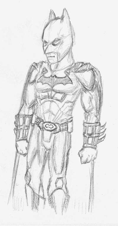 Batman Begins sketch by EmperorDinobot