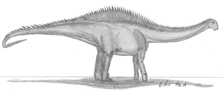 Rayososaurus agrionensis by EmperorDinobot