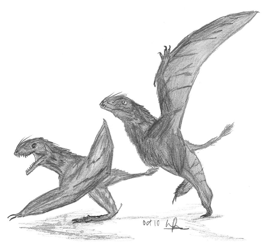 Batrachognathus volans by EmperorDinobot