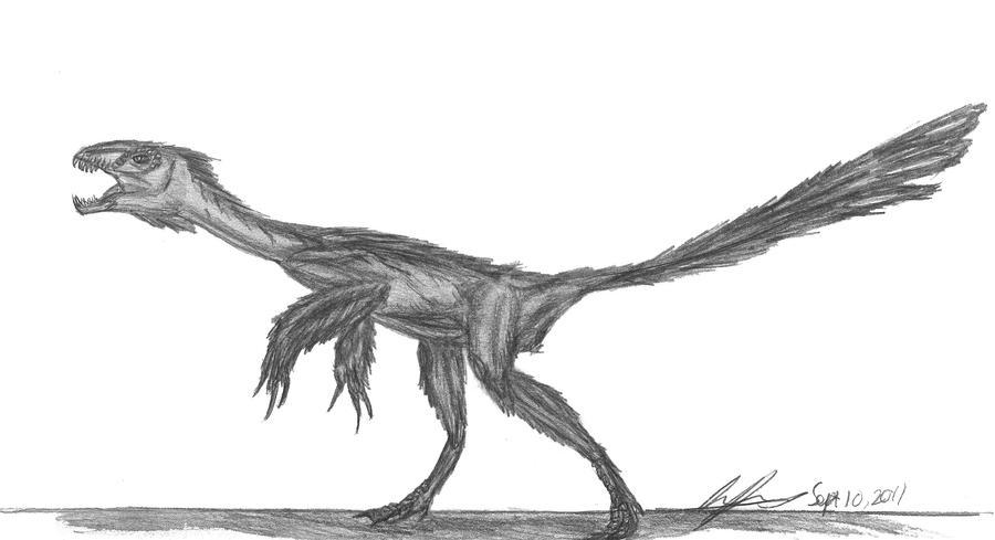 Epidexipteryx hui by EmperorDinobot