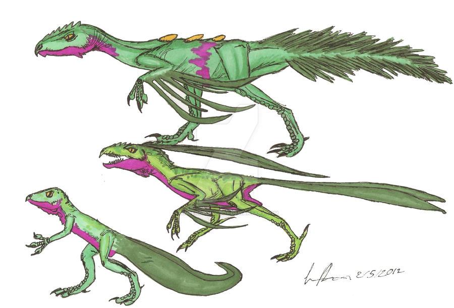 Treecko Grovyle and Sceptile by EmperorDinobot
