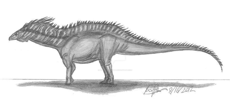 Amargasaurus cazaui by EmperorDinobot