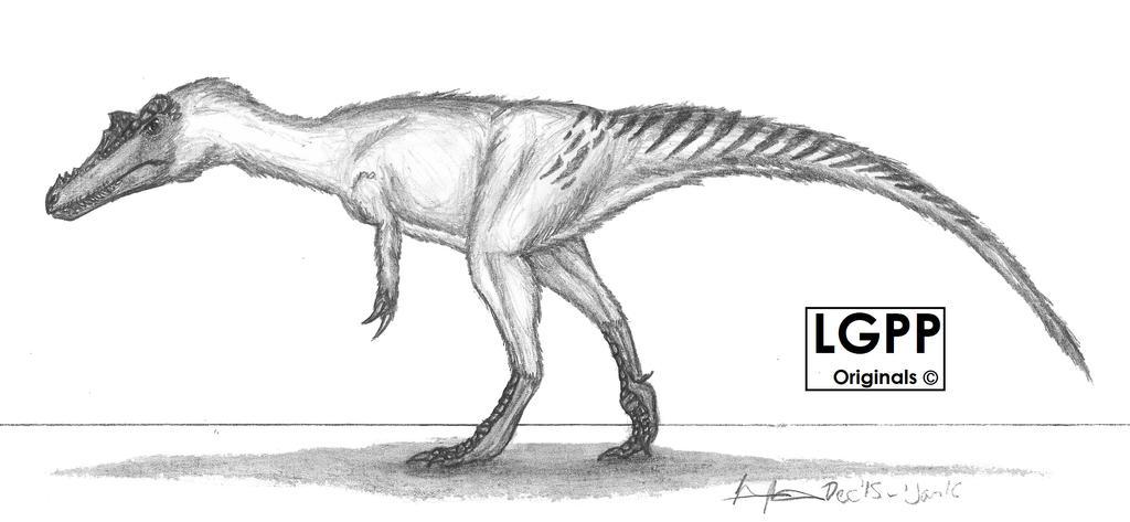 Qianzhousaurus sinensis by EmperorDinobot