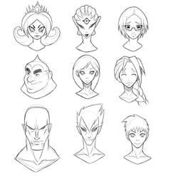 Face Sketches by Deks-Designs
