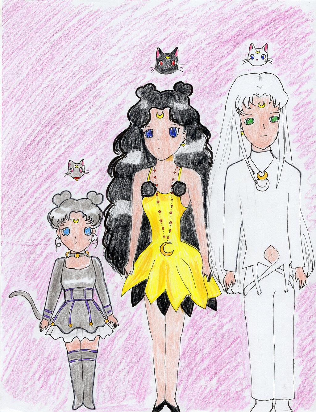 Luna Artemis And Diana In Human Forms By Subarufoxboy On