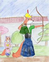 Kyudo Robin Hood by Subarufoxboy