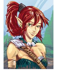 [DDDD] Wood Elf Portrait -Colour-