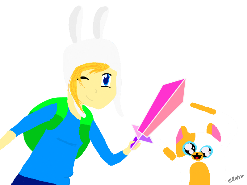 Adventure Time with Fionna and Cake by ellah2698