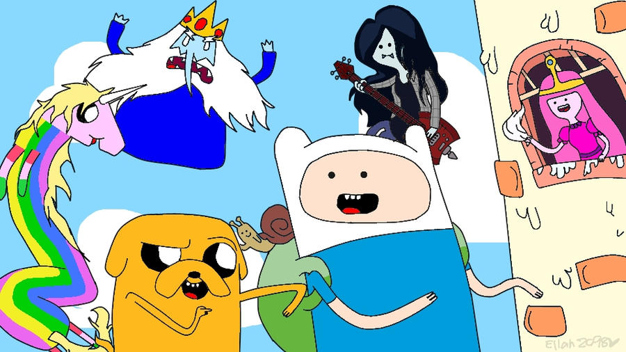 Adventure Time with Finn and Jake by ellah2698