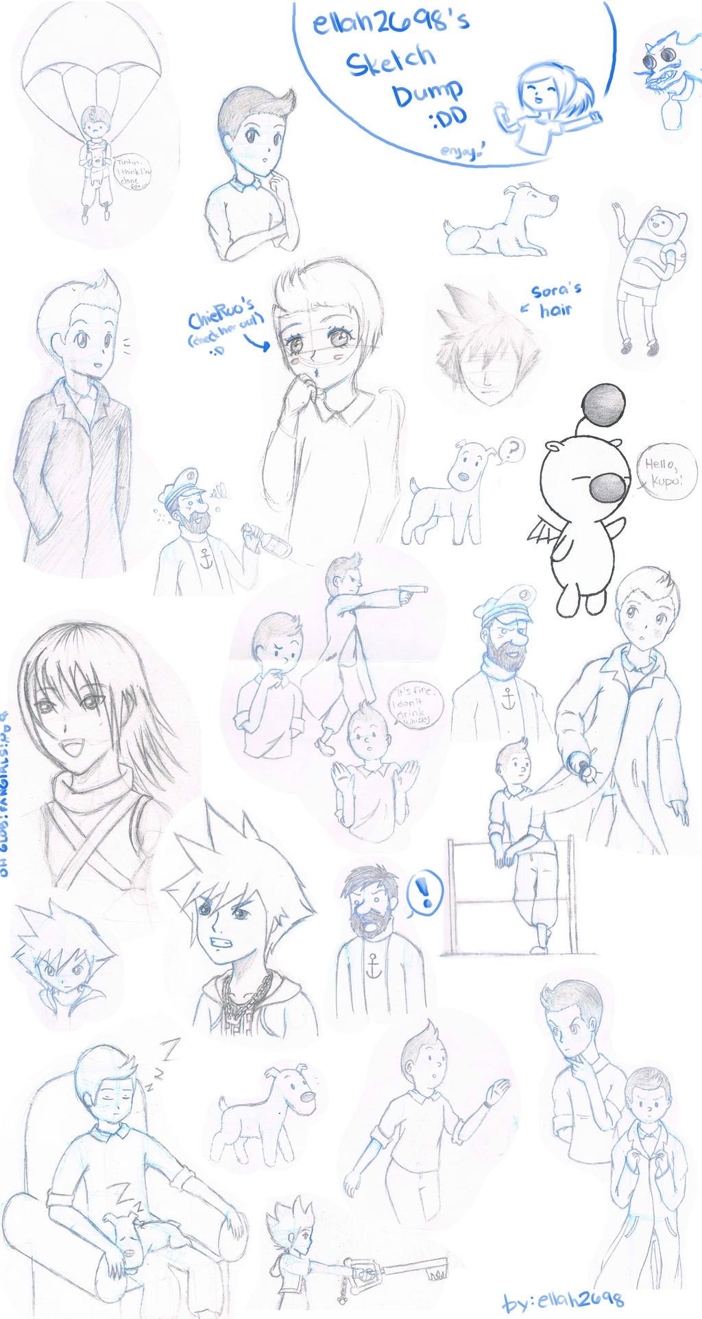 Sketch Dump by ellah2698