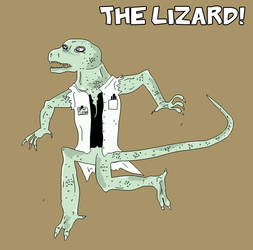 the lizard - lab coat'd