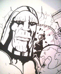Jack Kirby style DARKSEID (photo)