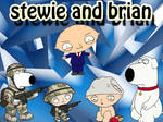 Stewie and brian FAmily guy