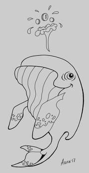 Whale Lineart