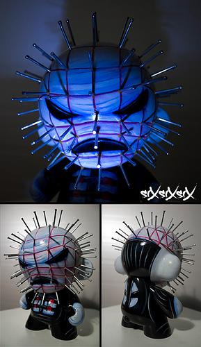 siXsiXsiX Munny Pinhead by dertrickzer