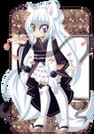 c: White kitsune by undead-alien