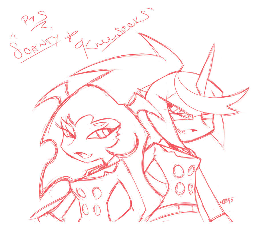 P+S _ Scanty+Kneesocks by angelballer45