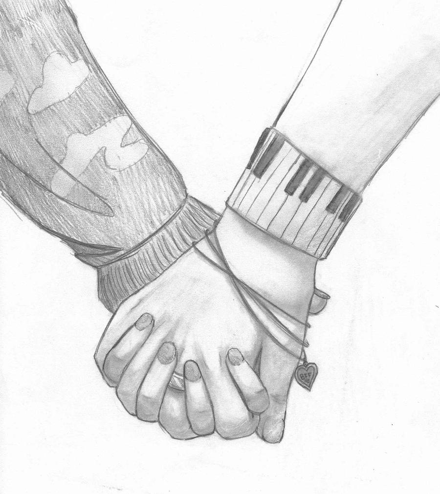Holding hands by awesomemcsauce on deviantart for Easy hand drawings