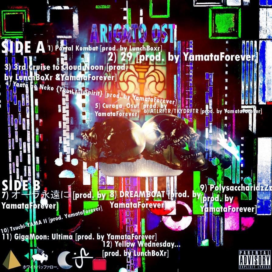 Yamata Forever - Arigato Backcover Tracklist by damonthomas