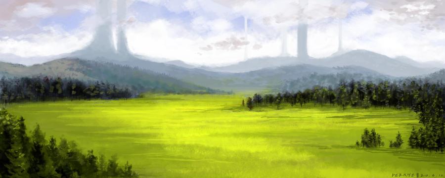 Open Fields by RynkaDraws