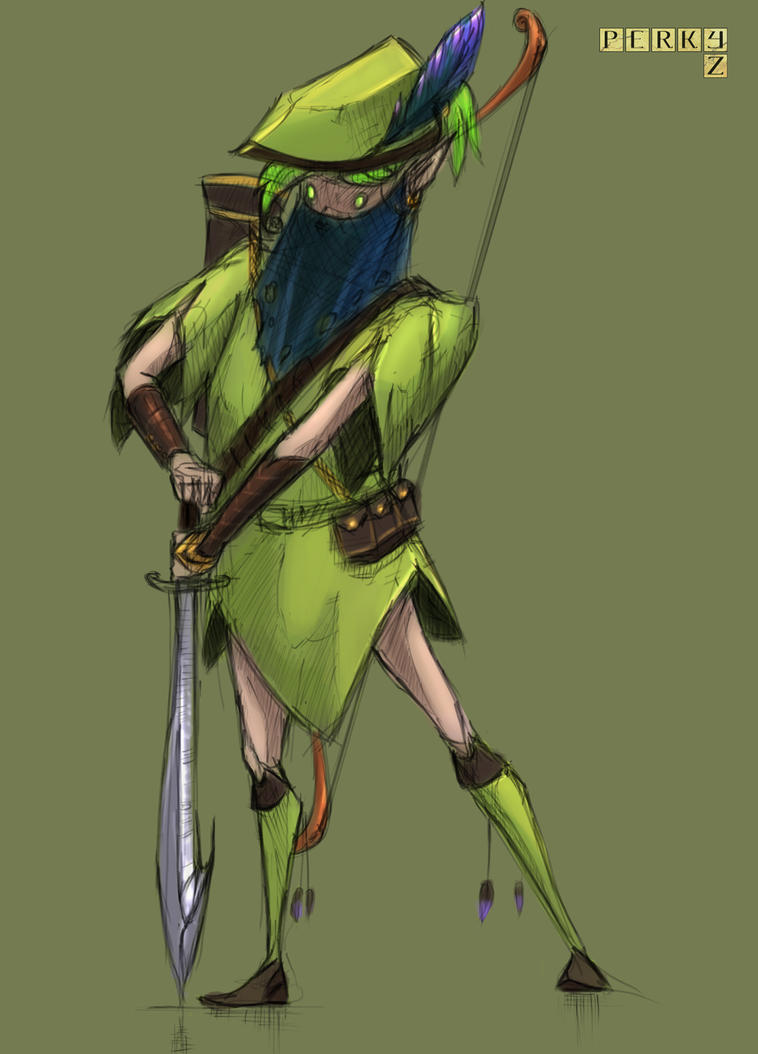 Elven Ranger by RynkaDraws