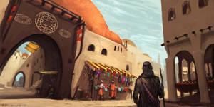 Oriental Market by RynkaDraws