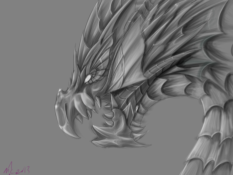 Puzzle and Dragons: Vritra GRAYSCALE