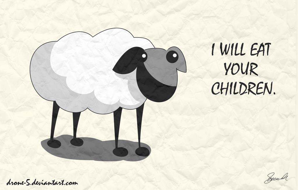 Evil sheep - photo#13