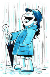 Blue rain by goraina