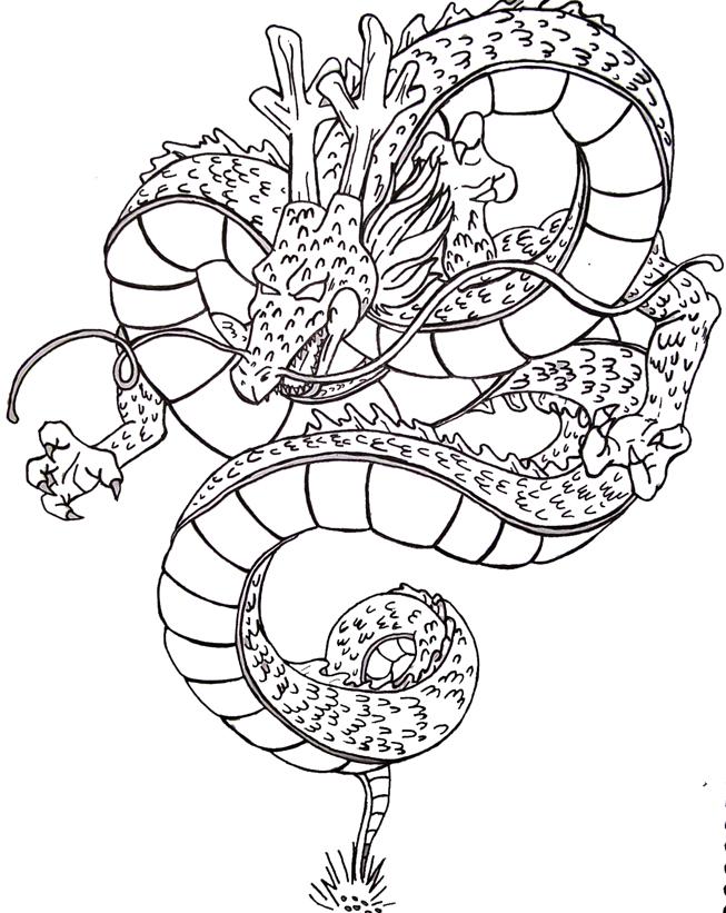 Shenron Inked by Caleblewis on DeviantArt