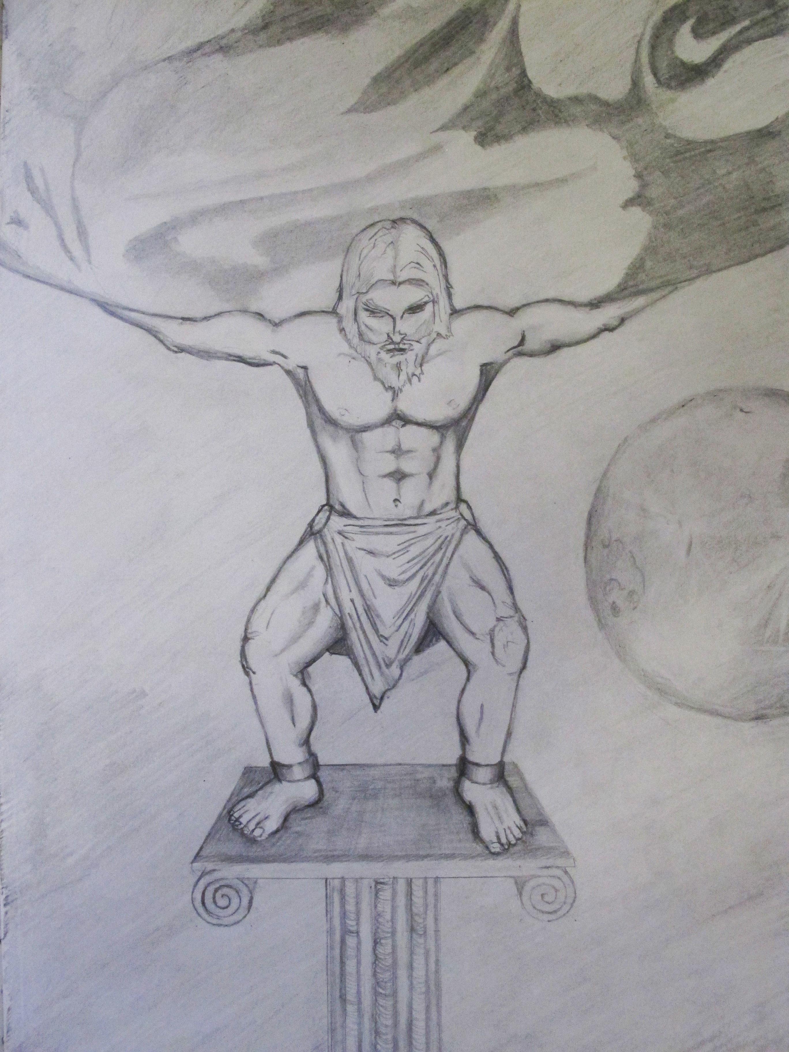 atlas greek titan drawings wwwimgkidcom the image