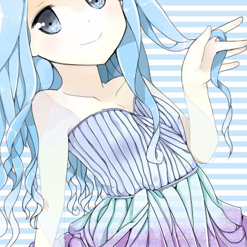 Pretty Blue Hair~ by atrociious