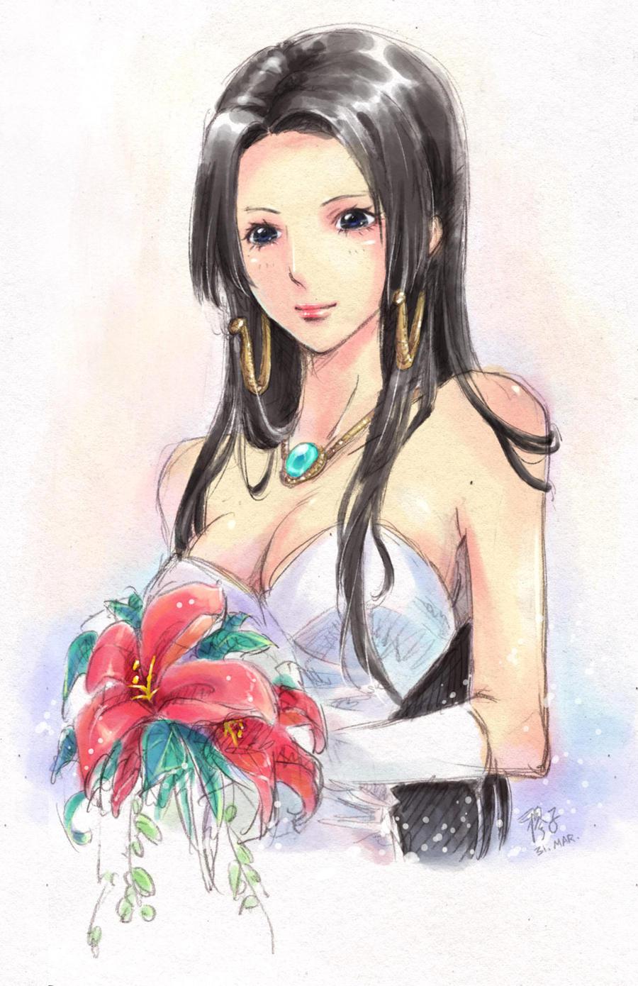 Boa Hancock's bride ver. by kelly1412