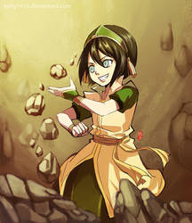 Toph's new outfit by kelly1412