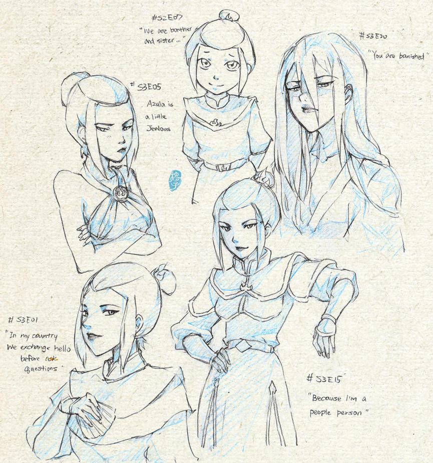 Official style sketch_Azula p1 by kelly1412